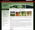 screenshot from the winter production, storage and sales website