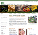 Screenshot of UVM Beginning Farmers Website